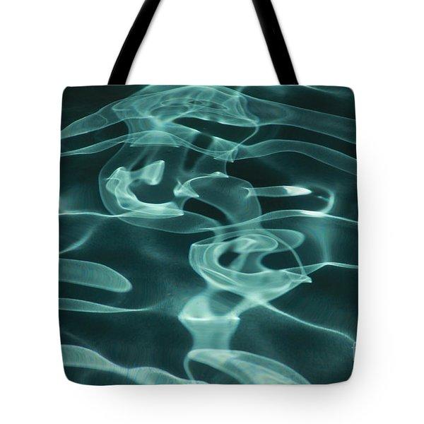 Blue Swirl Two Tote Bag by Chris Thomas