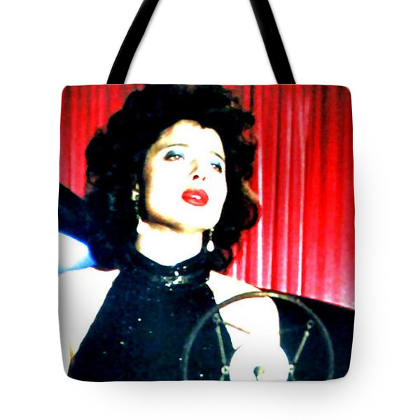Tote Bag featuring the painting Blue Velvet by Luis Ludzska