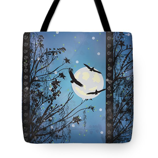 Blue Winter Tote Bag by Kim Prowse