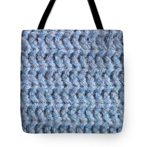Blue Wool Tote Bag by Tom Gowanlock