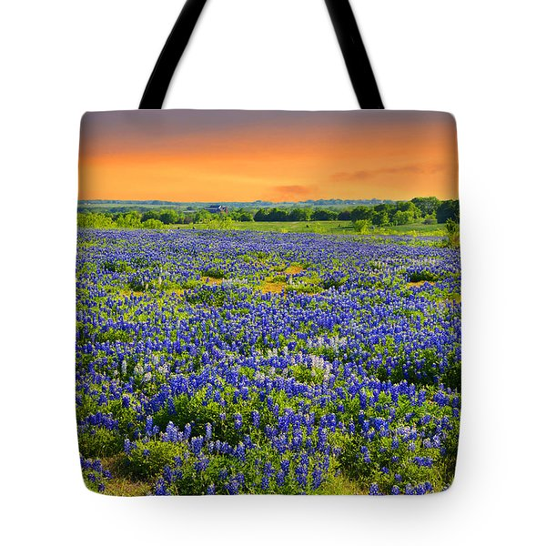 Bluebonnet Sunset  Tote Bag