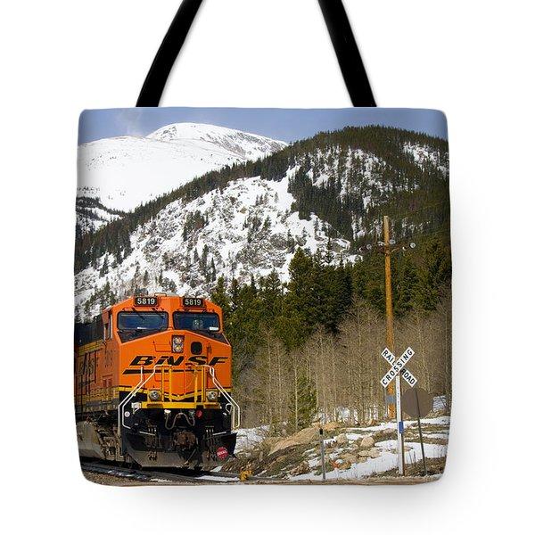 Bnsf Rolls Through Rollins Pass Colorado Tote Bag