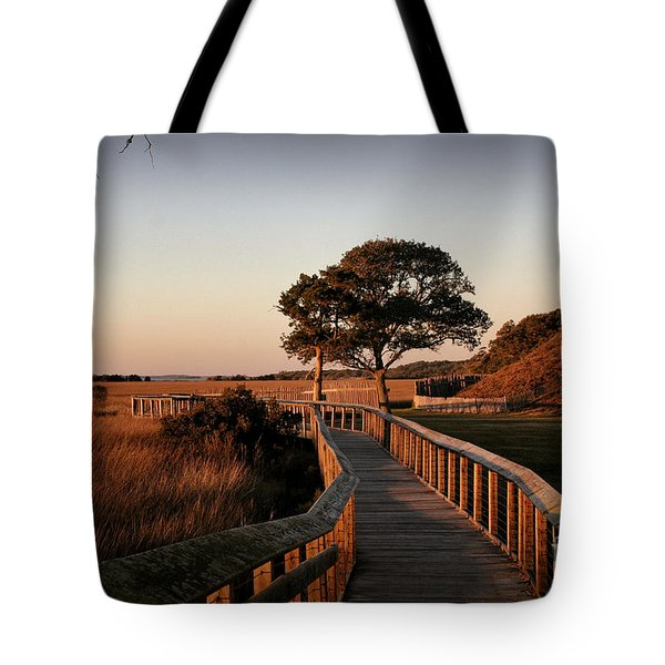 Boardwalk At Fort Fisher Tote Bag