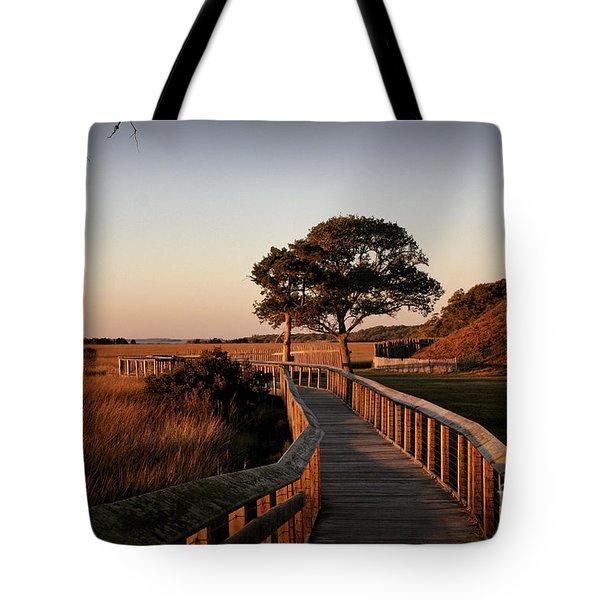 Boardwalk At Fort Fisher Tote Bag