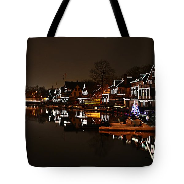Boathouse Row Lights Tote Bag by Bill Cannon