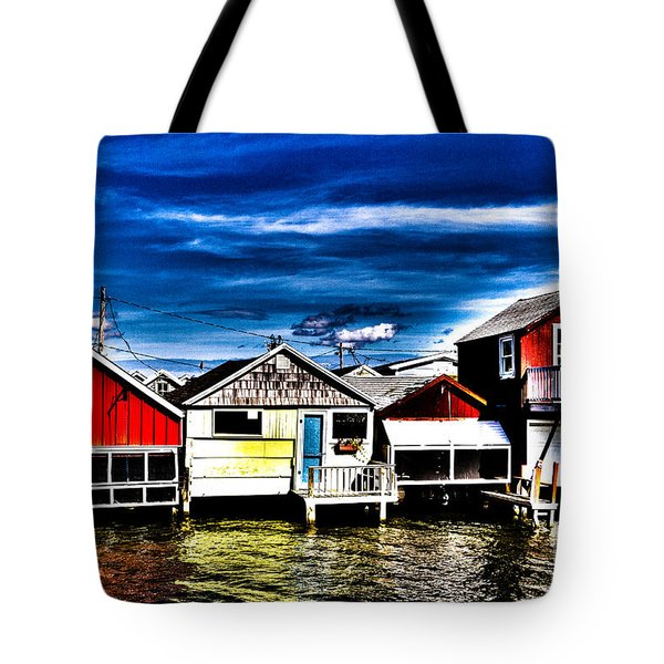Tote Bag featuring the photograph Boathouse Row by William Norton