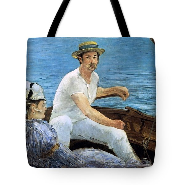 Boating Tote Bag by Edouard Manet