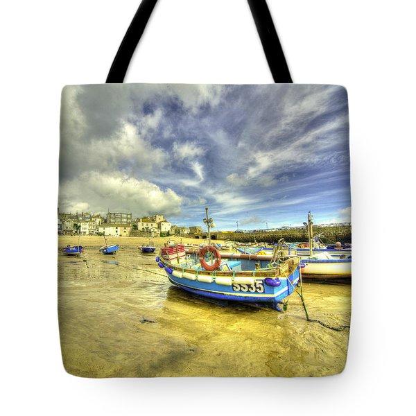 Boats At St Ives  Tote Bag
