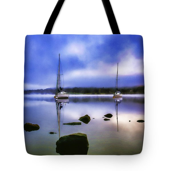 Boats On Ullswater Tote Bag