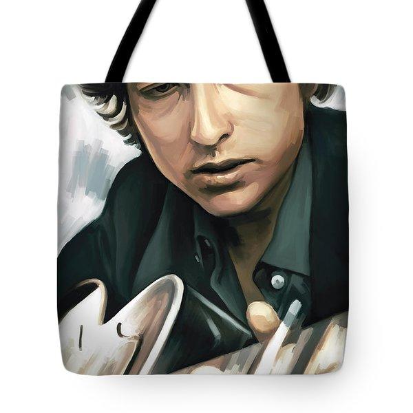 Bob Dylan Artwork Tote Bag