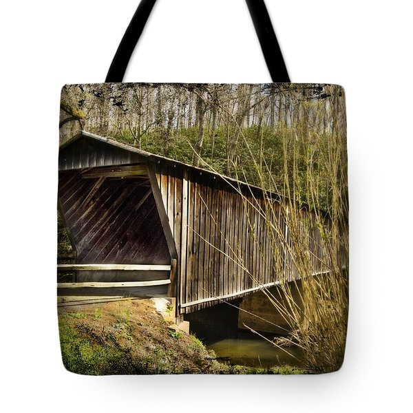 Bob White Covered Bridge Tote Bag