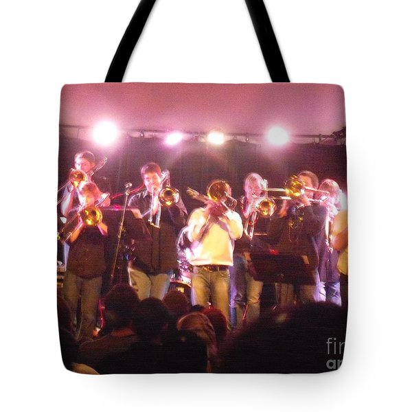 Tote Bag featuring the photograph Bonerama At The Old Rock House by Kelly Awad