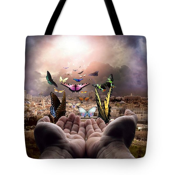 Born Again Israel Tote Bag