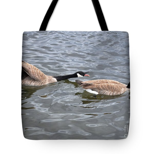 Bossy Canada Goose Tote Bag by Susan Wiedmann