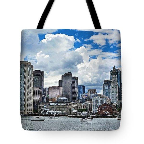 Boston Harbor Tote Bag by Julia Springer