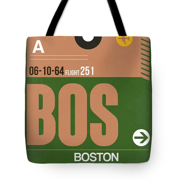 Boston Luggage Poster 1 Tote Bag by Naxart Studio