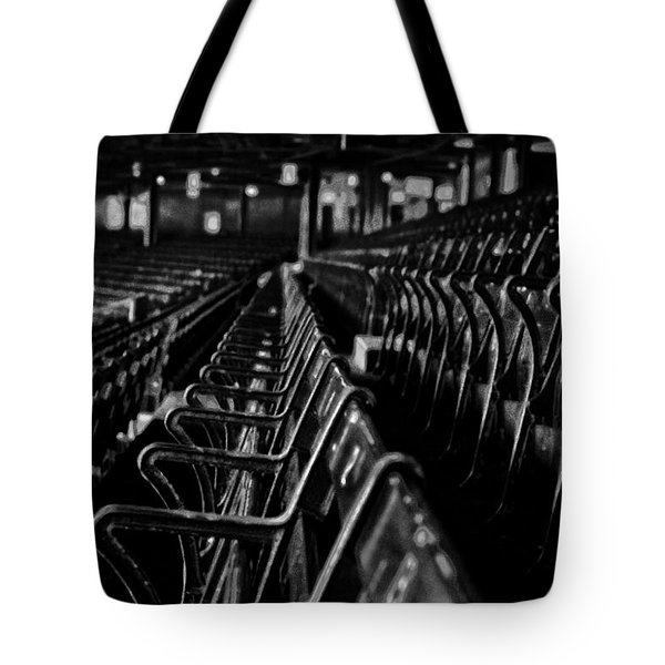 Bostons Fenway Park Baseball Vintage Seats Tote Bag by Doc Braham