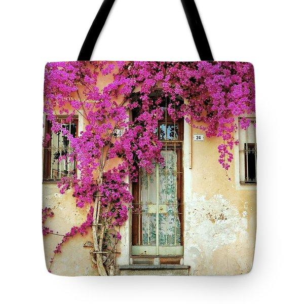 Bougainvillea Doorway Tote Bag