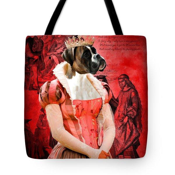 Boxer Art Canvas Print Tote Bag