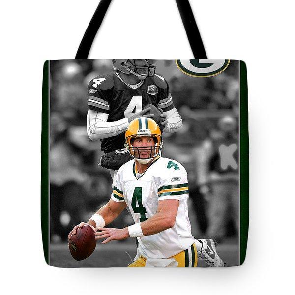 Brett Favre Packers Tote Bag