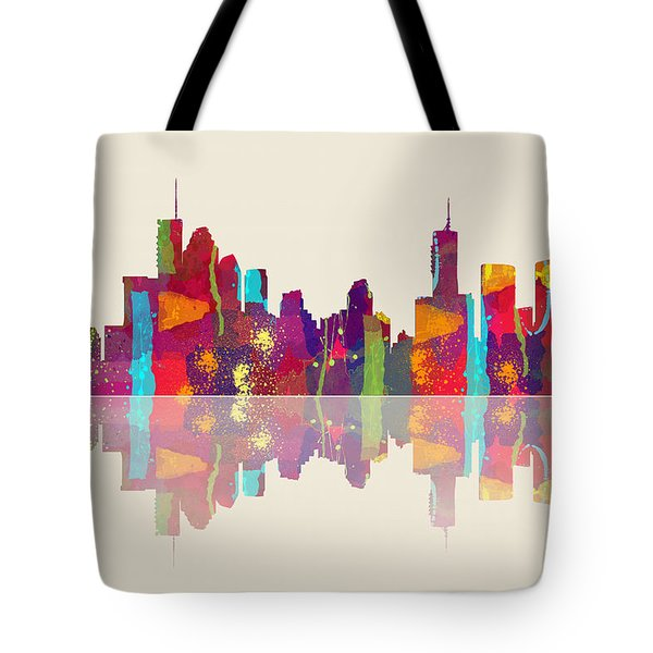 Brisbane Australia Skyline Tote Bag