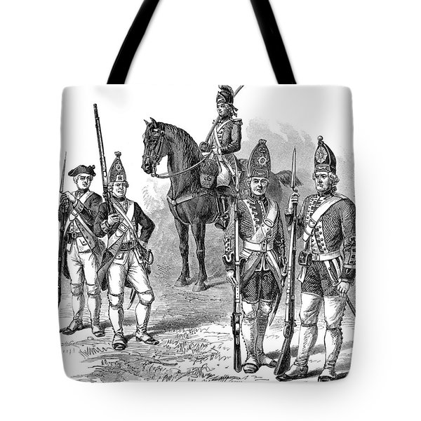 British & Hessian Soldiers Tote Bag by Granger