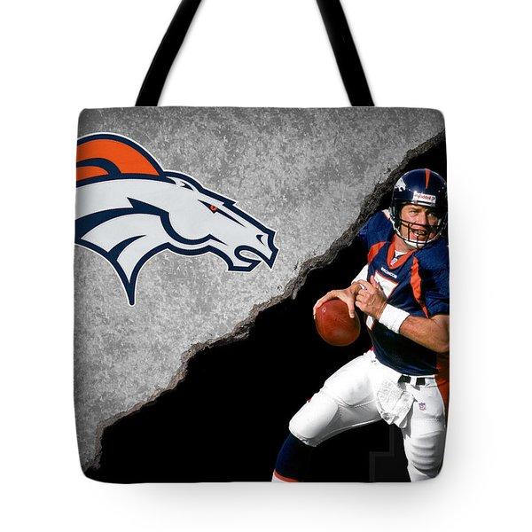 Broncos John Elway Tote Bag