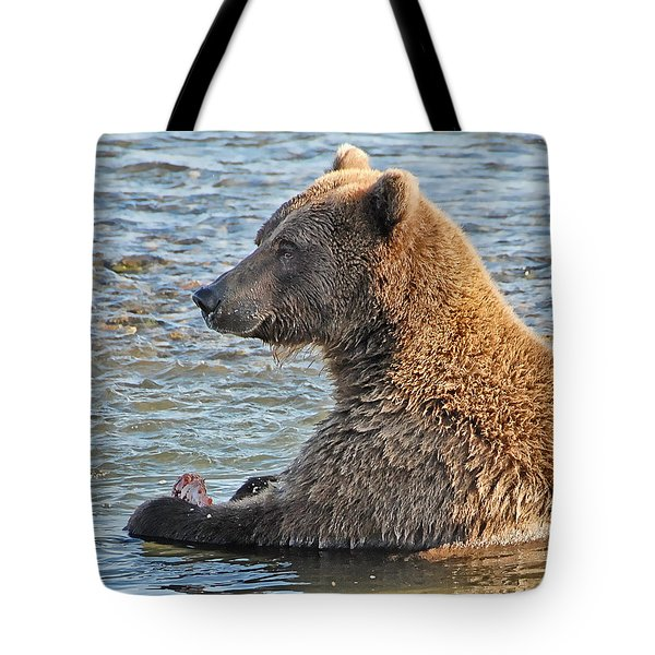 Salmon For Dinner Tote Bag