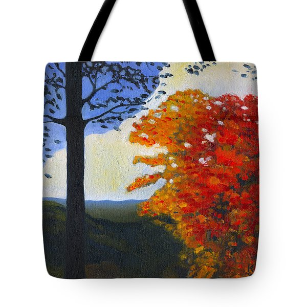 Brown County Indiana Tote Bag by Katherine Miller