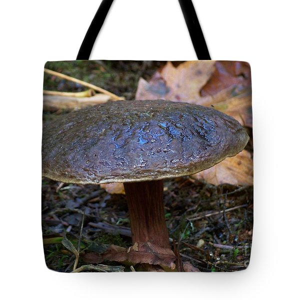 Brown Toadstool Tote Bag by Chalet Roome-Rigdon