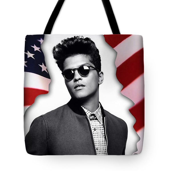 Bruno Mars Tote Bag by Marvin Blaine
