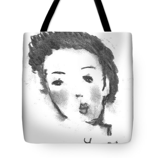 Tote Bag featuring the drawing Bubble Gum by Laurie L