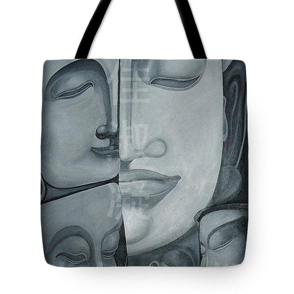 Buddish Facial Reactions Tote Bag by Fei A