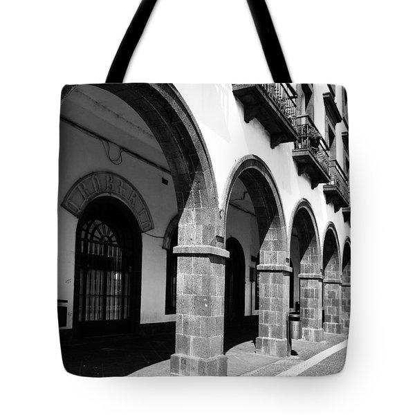 Buildings In Ponta Delgada Tote Bag by Gaspar Avila