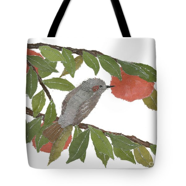 Bulbul And Persimmon  Tote Bag by Keiko Suzuki