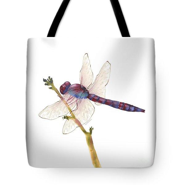 Burgundy Dragonfly  Tote Bag