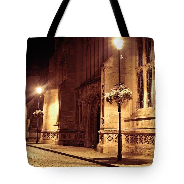 Bury St Edmunds Night Scene Tote Bag by Tom Gowanlock