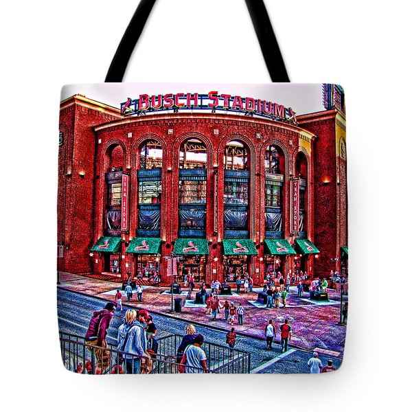 Busch Stadium Tote Bag by John Freidenberg