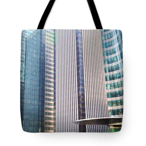 Business Skyscrapers Modern Architecture Tote Bag by Michal Bednarek