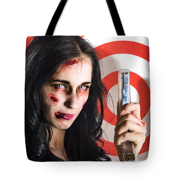Business Victim Ready To Fire Back In Retribution Tote Bag