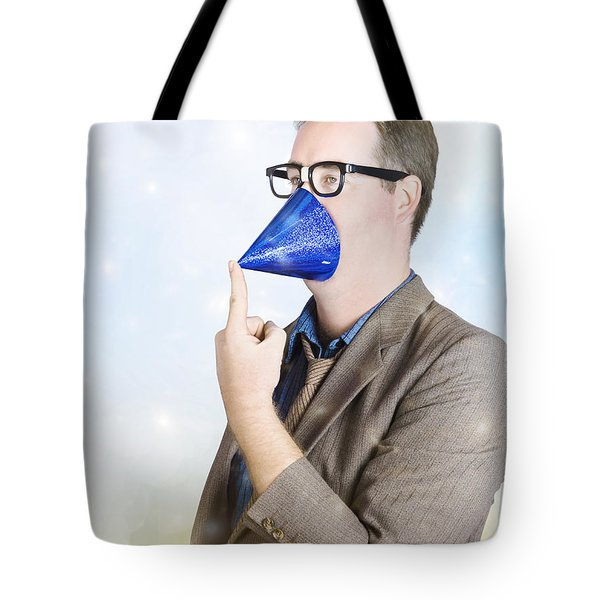 Businessman Celebrating At Business Party Tote Bag