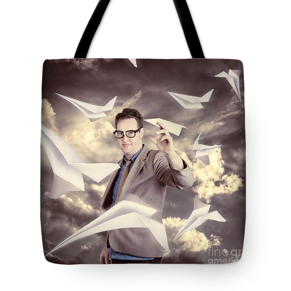 Businessman Developing And Expanding Market Share Tote Bag