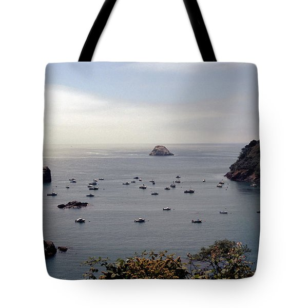 Tote Bag featuring the photograph Busy Harbor by Sharon Elliott