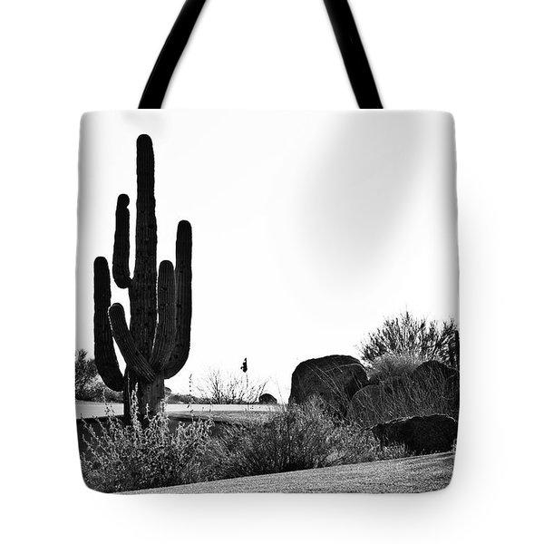 Cactus Golf Tote Bag by Scott Pellegrin
