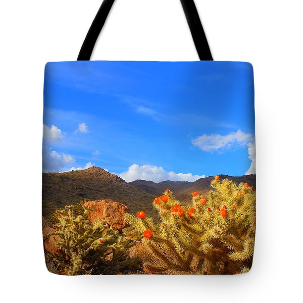 Cactus In Spring Tote Bag
