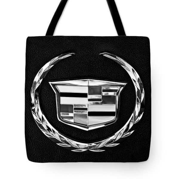 Tote Bag featuring the photograph Cadillac Emblem by Jill Reger