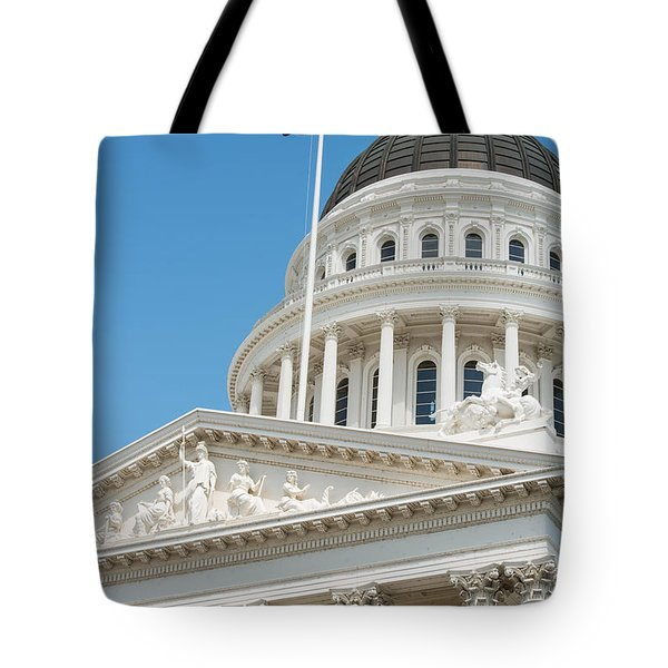 California State Capitol In Sacramento Tote Bag