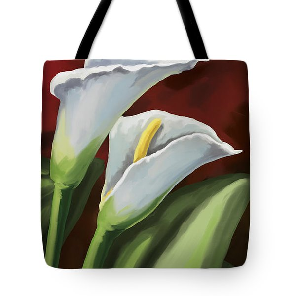 Calla Lilies  Tote Bag by Tim Gilliland