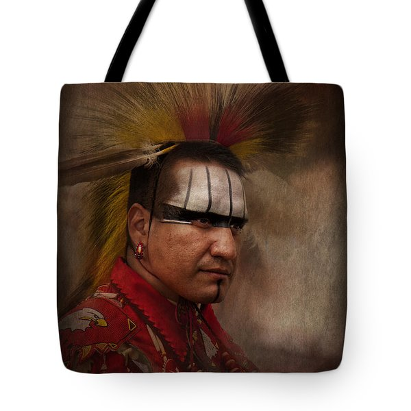 Canadian Aboriginal Man Tote Bag