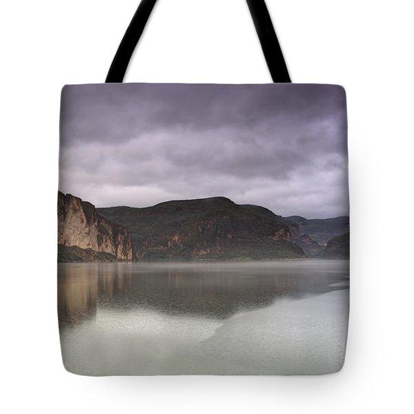 Canyon Lake  Tote Bag by Saija  Lehtonen